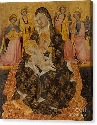 1420 Canvas Print - Madonna And Child With Angels by Pietro di Domenico da Montepulciano