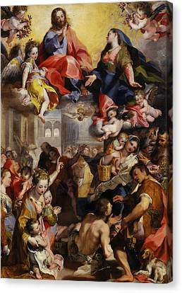 Madonna Of The People Canvas Print