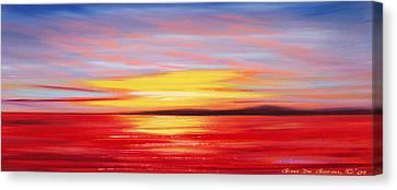 Magic At Sunset Canvas Print by Gina De Gorna