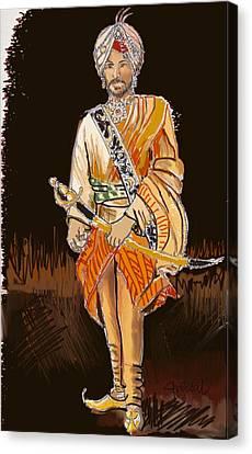 Sikh Art Canvas Print - Maharajah Daleep Singh  by Sukhpal Grewal