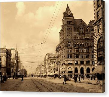 Main Street - Dayton Ohio 1902 Canvas Print