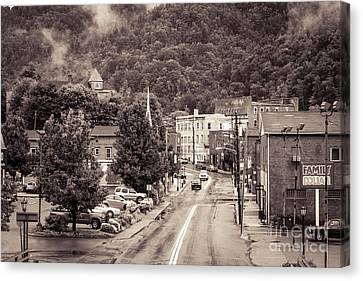 Canvas Print featuring the photograph Main Street Webster Springs by Thomas R Fletcher