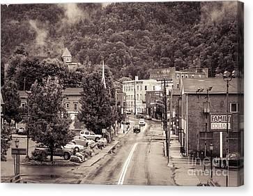 Main Street Webster Springs Canvas Print by Thomas R Fletcher