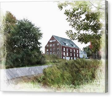 Maine Barns Canvas Print - Maine Barn by Marcia Lee Jones