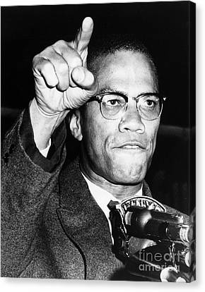 Muslims Canvas Print - Malcolm X (1925-1965) by Granger