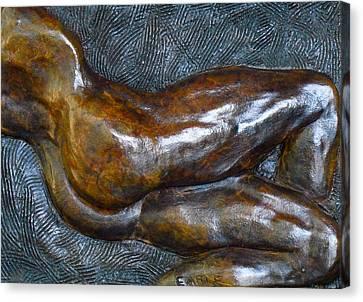 Male Dancer In Repose Canvas Print by Dan Earle