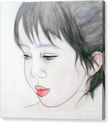 Manazashi Or Gazing Eyes Canvas Print