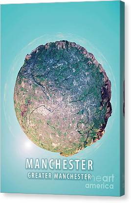 Manchester 3d Little Planet 360-degree Sphere Panorama Canvas Print