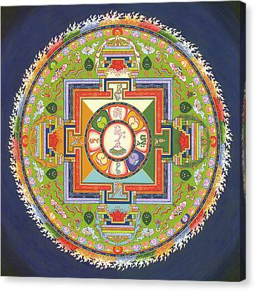 Buddhist Canvas Print - Mandala Of Avalokiteshvara           by Carmen Mensink
