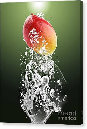 Mango Splash Canvas Print by Marvin Blaine