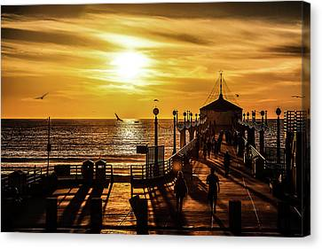 Canvas Print featuring the photograph Pier Of Gold by April Reppucci