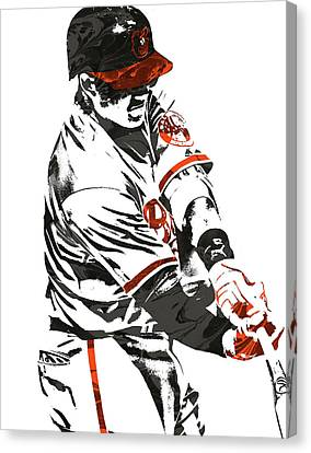Manny Machado Baltimore Orioles Pixel Art Canvas Print by Joe Hamilton