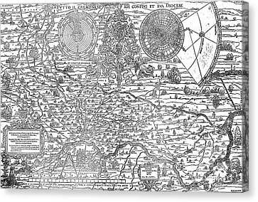 Map Of The Town And Diocese Of Cremona, 1571 Canvas Print