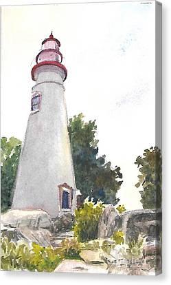 Marblehead Lighthouse Canvas Print by Terri  Meyer