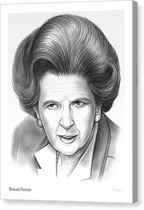 Margaret Thatcher Canvas Print
