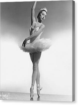 1950s Portraits Canvas Print - Maria Tallchief, Ballerina by Everett