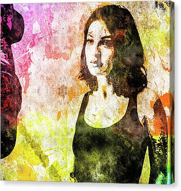 Maria Valverde Canvas Print by Svelby Art