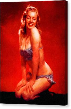 Marilin Monroe By Frank Falcon Canvas Print by Frank Falcon