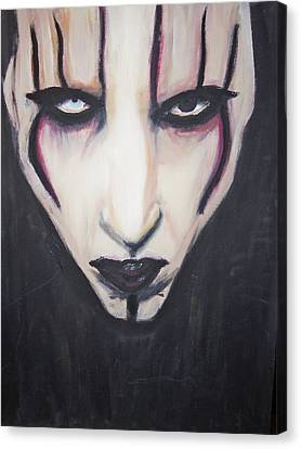 Marilyn Manson Canvas Print by Crystal  Rickman