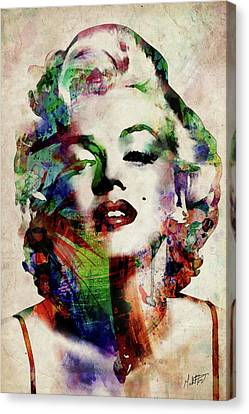 Marilyn Monroe Canvas Print - Marilyn by Michael Tompsett