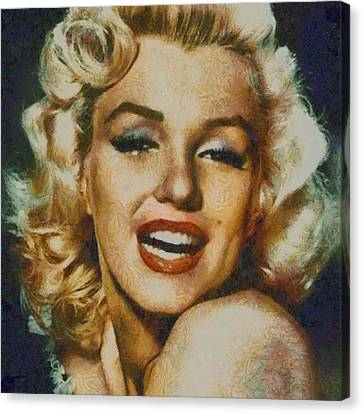 Marilyn Monroe Vintage Hollywood Actress Canvas Print by Esoterica Art Agency
