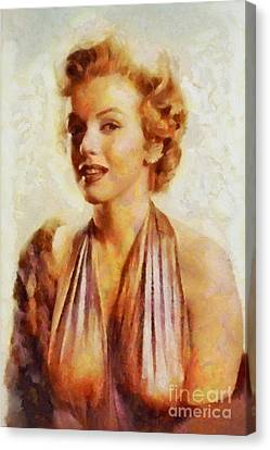 Marilyn Monroe, Vintage Hollywood Actress Canvas Print