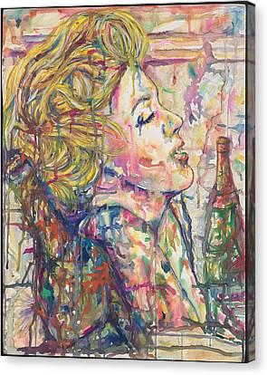 Marilyn's Medicine Canvas Print by Joseph Lawrence Vasile
