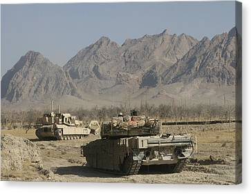 Marines Conduct Combat Operations Canvas Print by Stocktrek Images