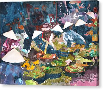 Canvas Print featuring the painting Market Fresh by Yolanda Koh