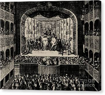 Markgrafentheater In Erlangen, 1721 Canvas Print
