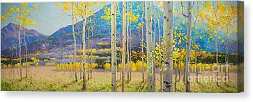 Maroon Bells Canvas Print by Gary Kim