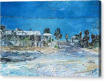 Marree Village Canvas Print by Joan De Bot