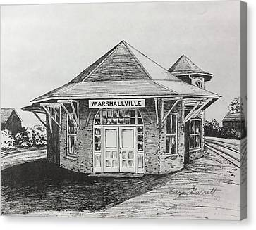 Marshallville Depot Canvas Print