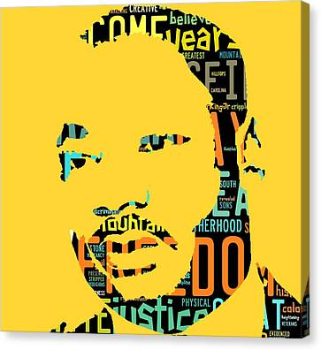 Martin Luther King Jr I Have A Dream Canvas Print by Marvin Blaine