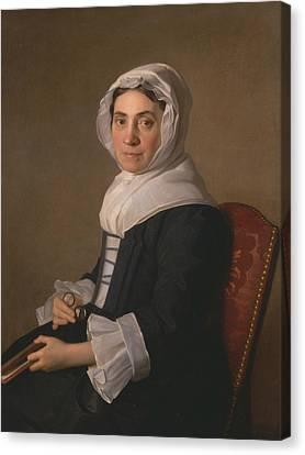 Mary Adam Canvas Print by Allan Ramsay
