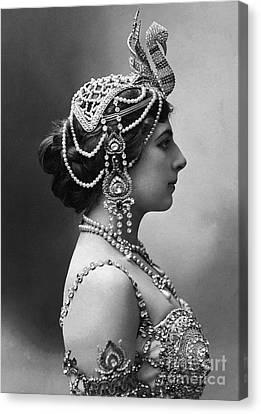Canvas Print featuring the photograph Mata Hari by Granger