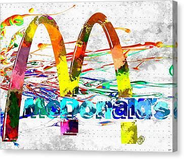 Mcdonald's Grunge Canvas Print by Daniel Janda