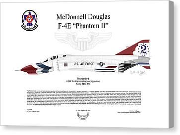 Mcdonnell Douglas F-4e Phantom II Thunderbird Canvas Print by Arthur Eggers