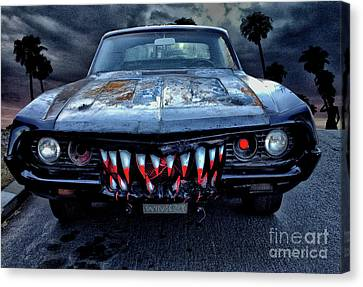 Mean Streets Of Belmont Heights Canvas Print by Bob Winberry
