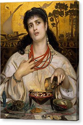 Medea Canvas Print by Frederick Sandys