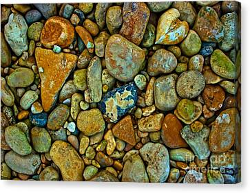 River Rocks Canvas Print by Michael Tidwell