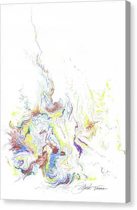 Meditation On The Burning Bush Canvas Print by Mark Turner