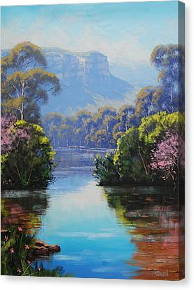 Megalong Creek Canvas Print by Graham Gercken