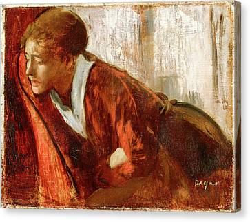 Melancholy Canvas Print by Edgar Degas