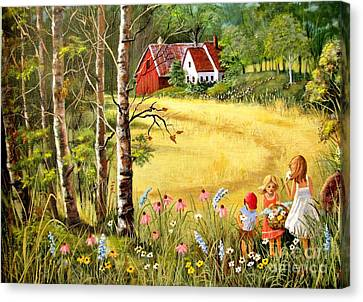 Woodlands Scene Canvas Print - Memories For Mom by Marilyn Smith
