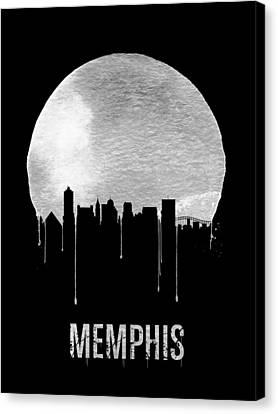 Memphis Skyline Black Canvas Print