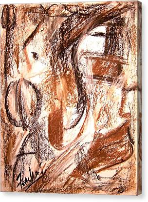 Mental Fiction II Canvas Print by Fareeha Khawaja
