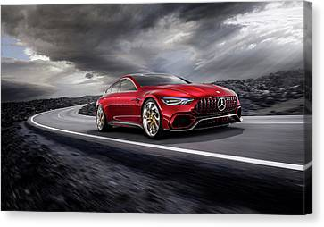 Mercedes A M G   G T Canvas Print by Movie Poster Prints
