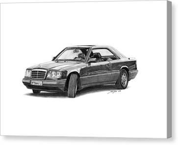 Mercedes-benz E-class Coupe Canvas Print by Gabor Vida