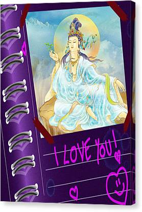 Merit King Kuan Yin Canvas Print